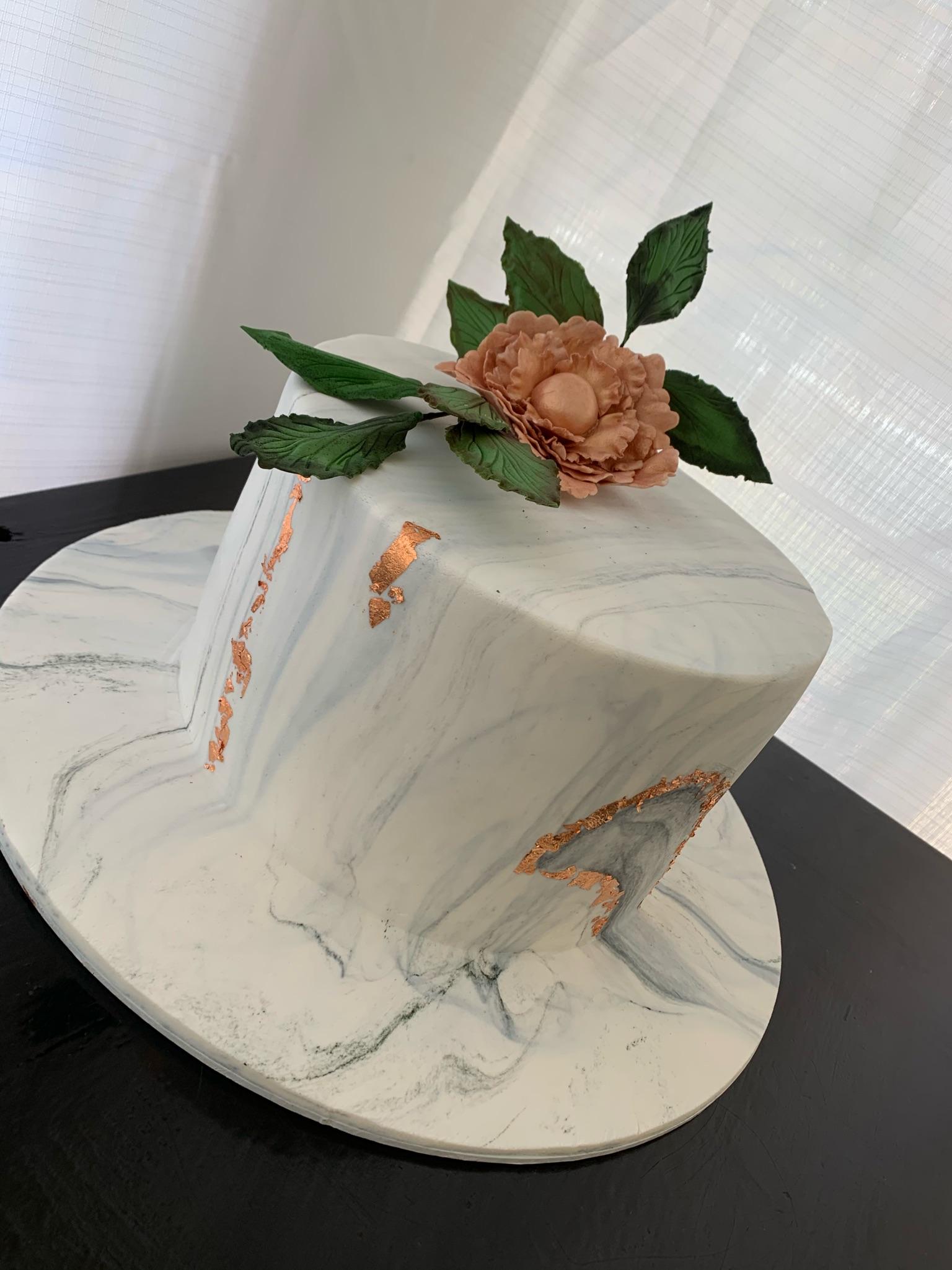 Marble Rose gold Cake